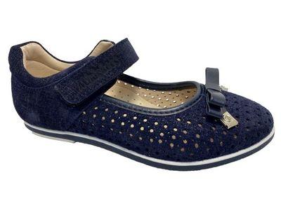 Mini-shoes Туфли 303-MS cин-блеск Detbot