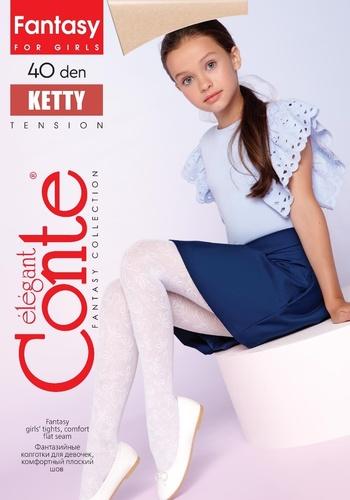 Conte Kids Колготы KETTY эластичные белые Detbot