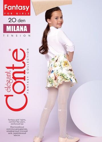 Conte Kids Колготы MILANA эластичные белые Detbot