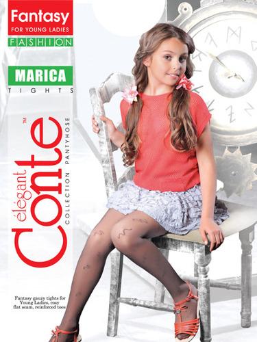 Conte Kids Колготы MARICA эластичные белые Detbot